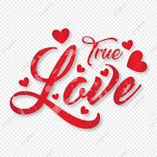 true love typography badge vector