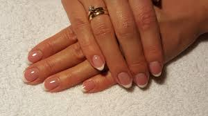 French Manicure Zelowe Panokcie Francuski Manicure Youtube