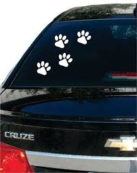 Paw Prints Dog Puppy Car Window Design Decal Sticker Wall Vinyl Art Vinyl Wall Art Decal Wall Art Vinyl Wall Art Decals