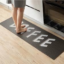 coffee printed kitchen floor mat
