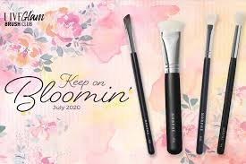 bloomin liveglam july 2020 brush club