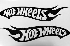 Product 2 Hot Wheels Vinyl Decals 24 Each Reversed Letters Left And Right Side