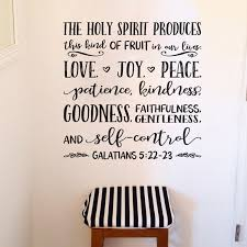 Galatians 5v22 Vinyl Wall Decal 9 Fruit Of The Spirit Love Joy Peace