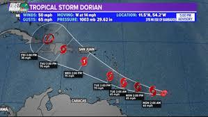 Tracking the Tropics: Tropical Storm Dorian strengthens again   krem.com