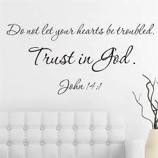 christ bible trust in god quotes vinyl wall art decals for living