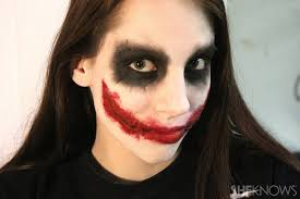 freaky femme joker makeup tutorial for