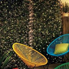 Lighted Expandable Faux Ivy Trellis Outdoor Trellis Garden Fence Panels Outdoor Panels