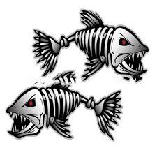 Big Sale 6bd0cd 2pcs Skeleton Fish Bones R L Vinyl Decals Stickers Kayak Fishing Boat Car C022 Cicig Co