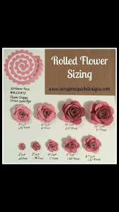 Pin by Lori Kelso on Cricut Tutorials & Tips | Rolled paper flowers, Flower  shadow box, Paper flower template