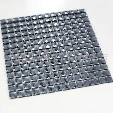 china glass mirror tiles in grey color
