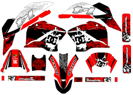 Custom Mx Vinyl Decal Graphics Sticker Kit Compatible With Honda Xr125 Years 2003 13 Red Black White Sale Affordable Mx Graphics Quad Stickers Motorcycle Decals Store