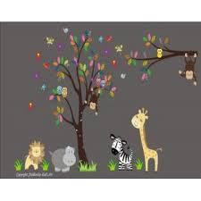 Nursery Wall Decals Nursery Decals Wall Decals Kids Room Safari Animal Wall Stickers Jungle Animal Wall Decals Removable And Reusable