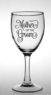 Mother Of The Groom Mother Of The Bride Vinyl Sticker Diy Wine Glass Decal Wedding Sticker