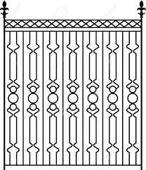 Wrought Iron Gate Door Fence Window Grill Railing Design Royalty Free Cliparts Vectors And Stock Illustration Image 46866683