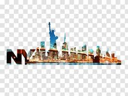 Statue Of Liberty Wall Decal Sticker City Mural Transparent Png