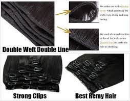 7 pieces curly virgin remy hair clip in