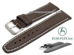 23mm dark brown leather i flex