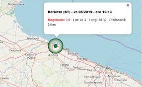 Terremoto oggi Puglia, 21 maggio 2019: forte scossa avvertita a ...
