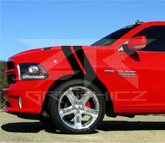 Dodge Ram Dual Fender Stripe Hash Mark Rt 1500 Stripe Decal Graphic Ztr Graphicz