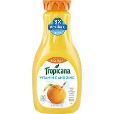 tropicana pure premium vitamin c zinc
