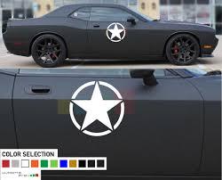 Dodge Challenger Graphic Decal Side Star Sticker Rt Srt 2008 Present
