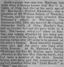 Newspaper Article 1898 – Mildred Smith : Hawke's Bay Knowledge Bank