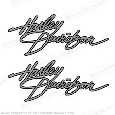 Harley Davidson Flh 1982 Fuel Tank Motorcycle Decals Set Of 2 Any Color