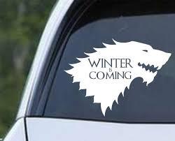 Game Of Thrones House Stark Direwolf Ver B Die Cut Vinyl Decal Sticker Decals City