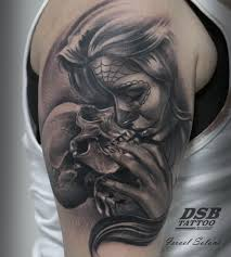 Tattoo Tatuaje Skull Calavera Girl Realismo Madrid Katrina