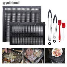 Yyph Non Stick Mesh Grilling Bag Mats Bbq Outdoor Picnic Baking Barbecue Cooking Too Grand Shopee Philippines