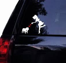 English Bulldog Decal Sassy Lady Loves Her British Bulldog Etsy