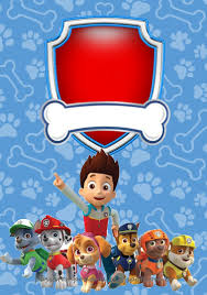 Paw Patrol In Red And Blue Free Printable Party Kit Cumpleanos