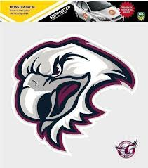 Manly Sea Eagles Nrl Monster Decal Secondary Car Stickers Itag Car Decals Motoring Guy Stuff