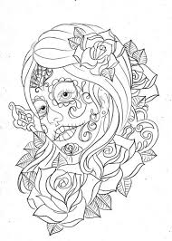 Day Of The Dead Coloring Pages For Adult Enjoy Coloring Skull