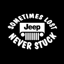 Maybe Lost Never Stuck Jeep Vinyl Decal Stickers Sticker Flare Llc