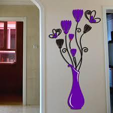 3d Flower Vase Wall Sticker Art Mural Removable Diy Paper Home Decor Walmart Com Walmart Com