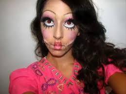 creepy doll makeup you