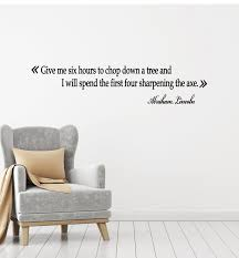 Vinyl Wall Decal Politics President Usa Abraham Lincoln Quote Stickers Wallstickers4you