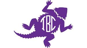 Tcu Horned Frog Circle Monogram Decal Horned Frogs Monogram Decal Circle Monogram