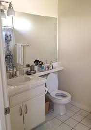 my ugly apartment bathroom makeover