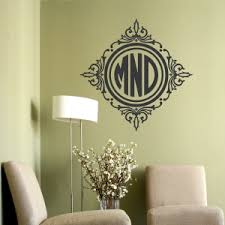 Monogram Wall Decals Personalized Name Wall Decor