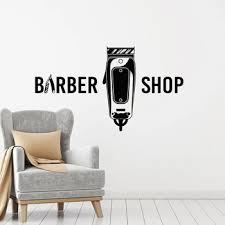 Barber Shop Wall Decal Hairdresser Shaves Tools Elements Hair Salon Interior Decor Vinyl Window Stickers Art Creative Mural M653 Pakai Mahkotang834