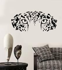 Vinyl Wall Decal Eyes Wild Big Cat Leopard Predator African Animal Stickers Unique Gift 2049ig Vinyl Wall Decals Wall Decals Vinyl Wall