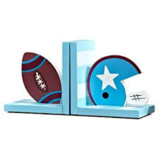 Wood Sports Bookends Football American Ruby Basketball Baseball Bookends Nursery Room Kids Room Decorative Bookends Children Gift Idea Red Bookends
