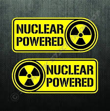 Nuclear Powered Sticker Set Vinyl Decal Label Electric Car For Tesla Model 3 Funny Vinyl Decals Truck Bumper Stickers Car Sticker Ideas