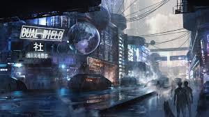 scifi city futuristic resolution hd 4k