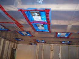 vapor barrier poly to walls and ceiling