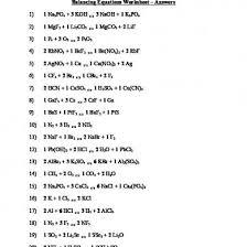 year 11 balancing equations worksheet