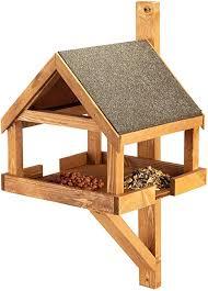 Hove Fence Wall Mounted Bird Table Space Saving Wall Mounted Bird Feeder Amazon Co Uk Garden Outdoors