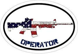 Wickedgoodz Operator American Flag Ar 15 Vinyl Decal Ar15 Bumper Sticker Great Gun 2nd Amendment Patriot Gift Wickedgoodz